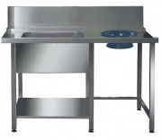Prewash Table, Scrap Hole & Undershelf